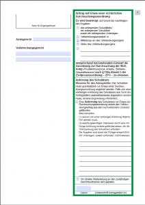 Antrag auf Erlass einer richterlichen Durchsuchungsanordnung, (speicherbares Formular) . Ab dem 01.03.2013 verpflichtend.